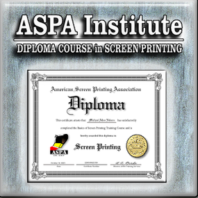 71d670ba DIPLOMA COURSE IN SCREEN PRINTING ASPA INSTITUTE--GLOBAL ONLINE TRAINING  After considerable development, we have launched ASPA Institute. ASPA  Institute is ...